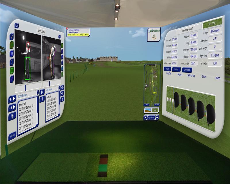 Begagnad Sports Coach 3D Surround Golfsimulator till salu (Såld)